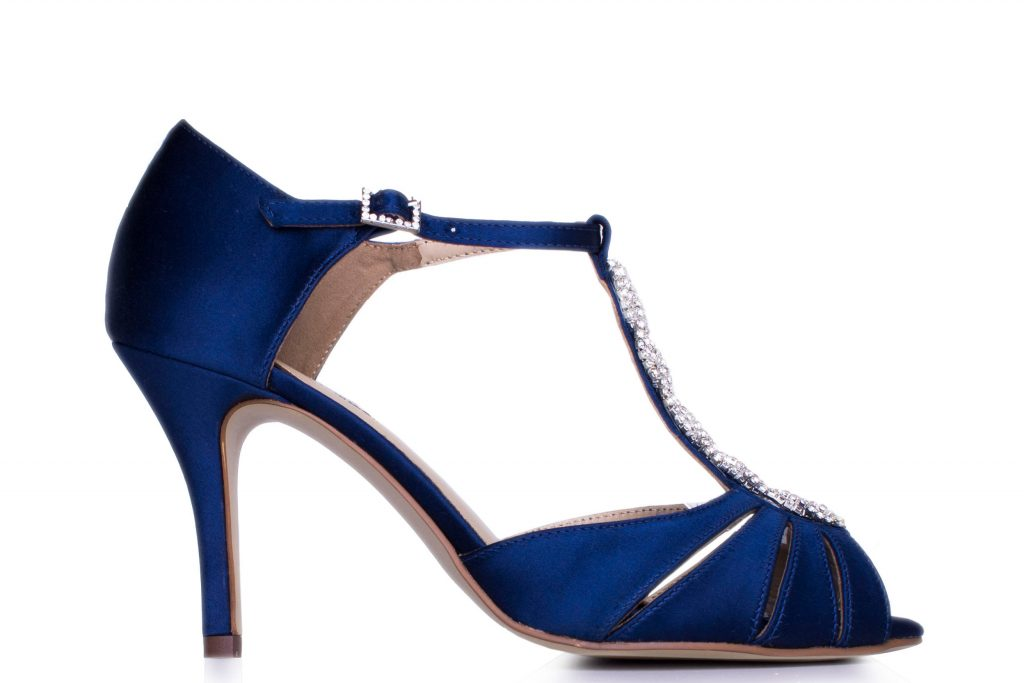 Blue wedding shoes for colourful brides love our wedding the diamante detail on the middle and buckle adds a touch of pretty sparkle to the design and we think theyd made excellent bridesmaid shoes too junglespirit Images