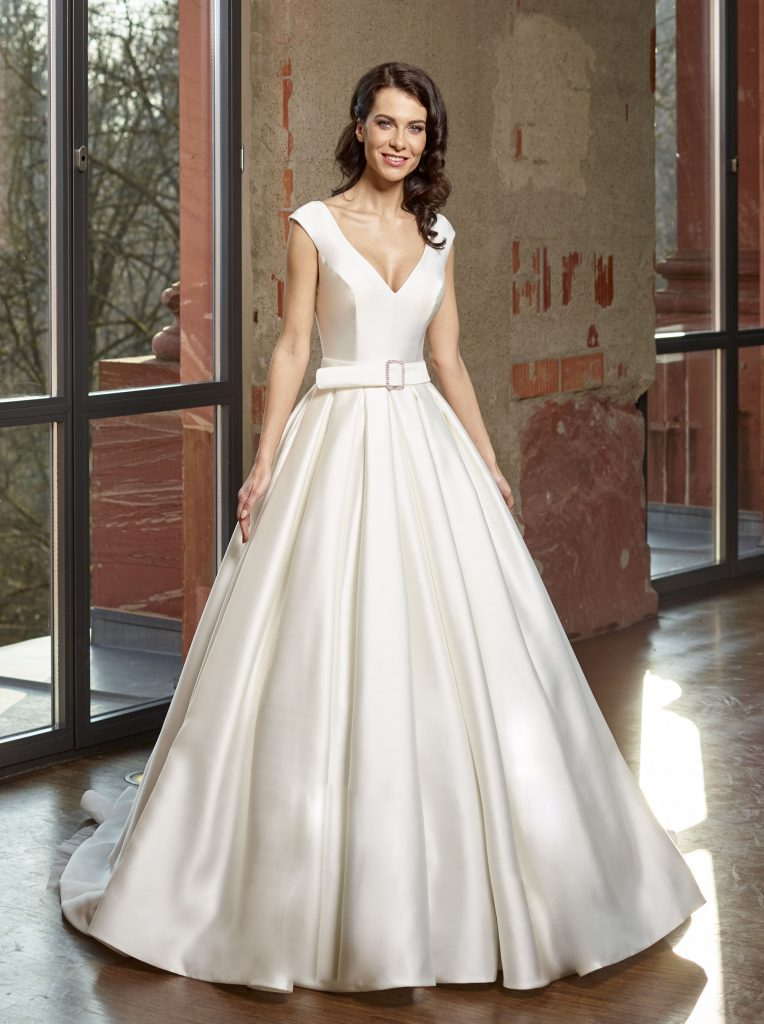 Stunning satin wedding dresses from novabella find your dream dress 30205f junglespirit Image collections