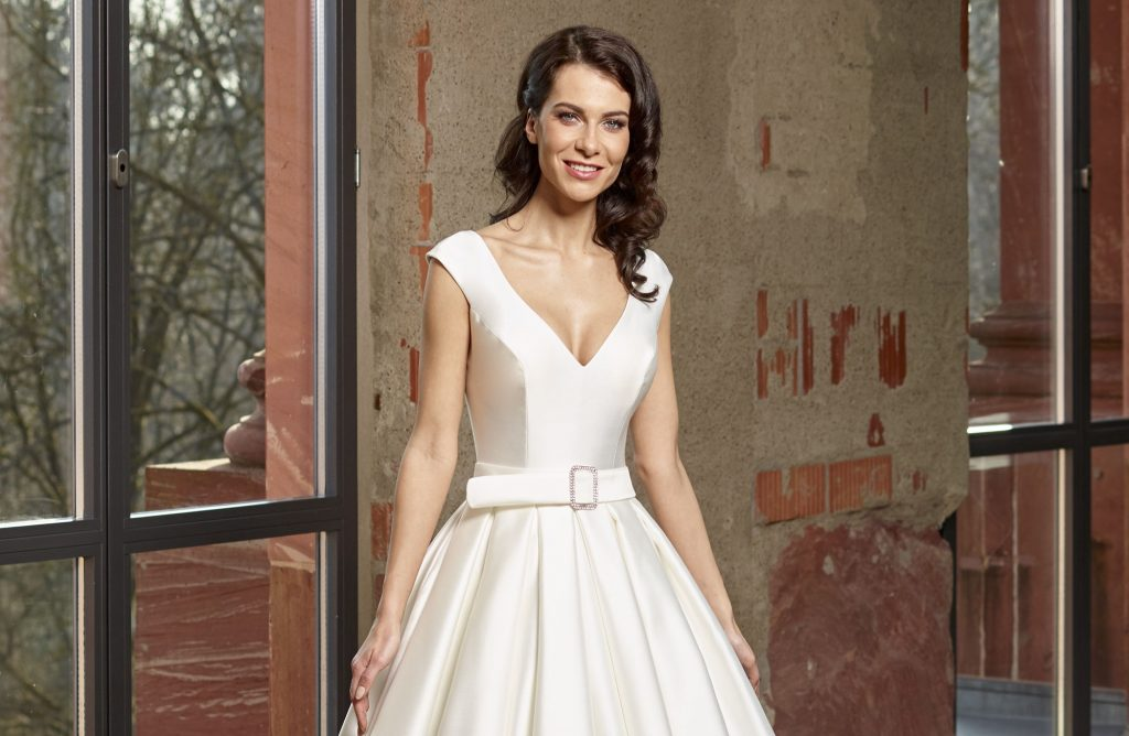 Stunning satin wedding dresses from Novabella - Find Your ...