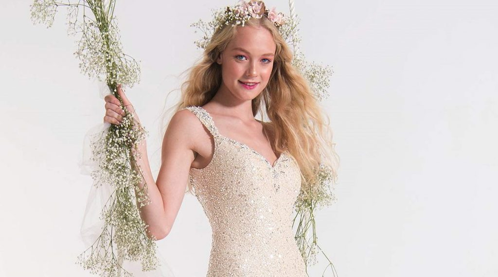 5 sequin wedding dresses to make you sparkle find your for Build your dream wedding dress