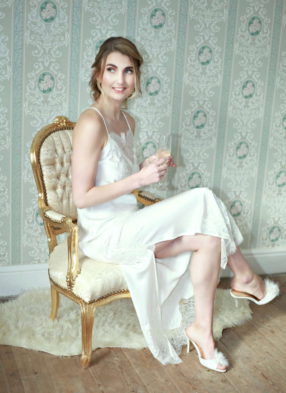 Aemilia Couture Arabella SS19 Collection silk and lace gown. bridal lingerie bafe44aa8